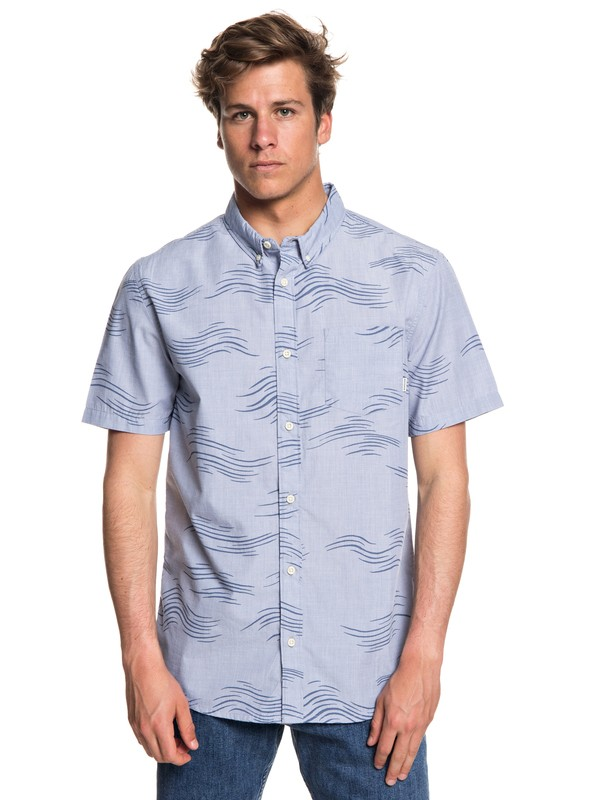 0 Hombres Camisa Manga Corta Valley Groove Azul EQYWT03714 Quiksilver