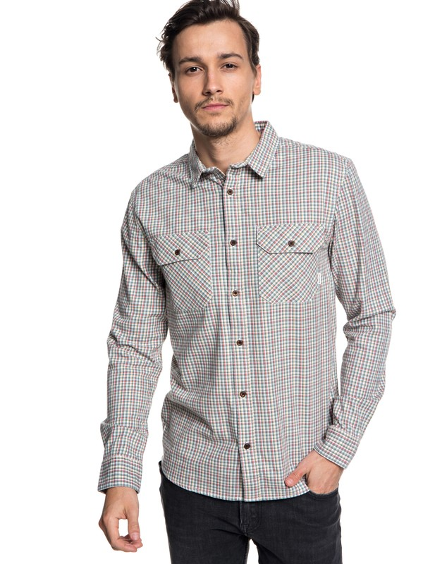 0 Fuji View Flannel Long Sleeve Shirt Brown EQYWT03719 Quiksilver