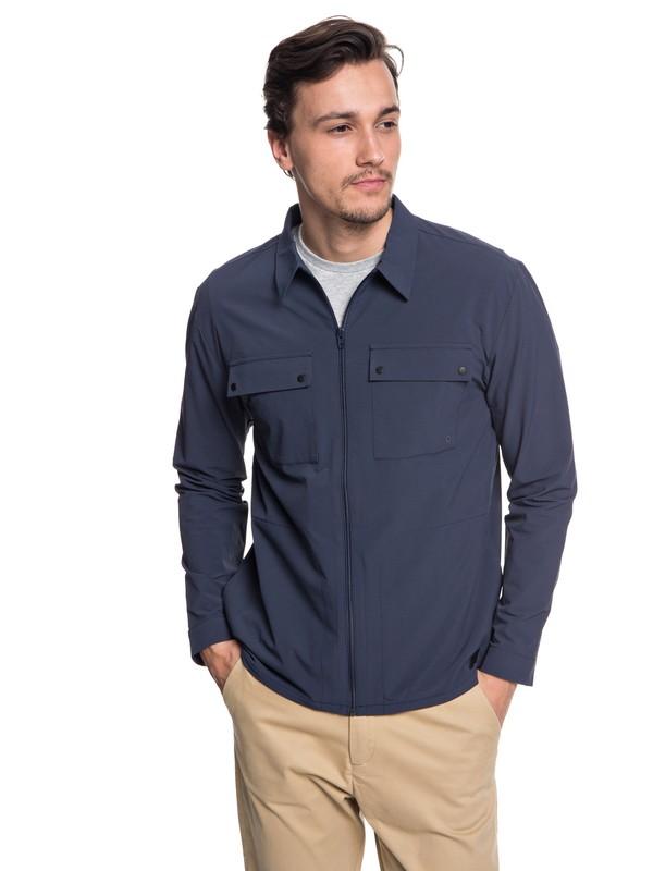 0 Men's Hakone Long Sleeve Shirt Blue EQYWT03721 Quiksilver