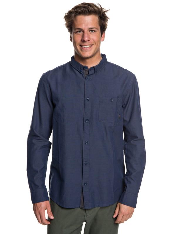0 Men's Waterfalls Long Sleeve Shirt Blue EQYWT03725 Quiksilver