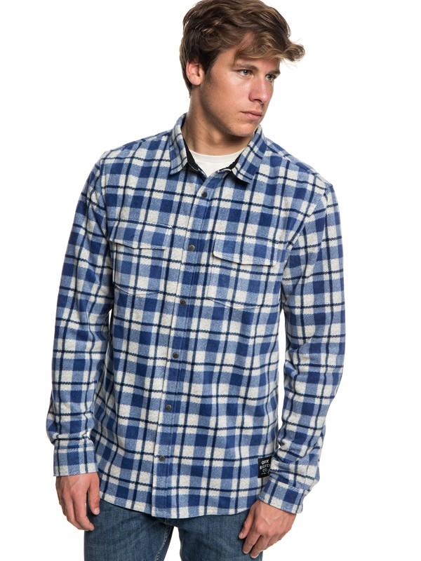 0 Men's Surf Days Long Sleeve Shirt Blue EQYWT03731 Quiksilver
