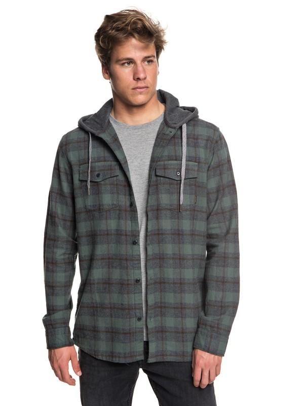 0 Men's Snap Up Long Sleeve Shirt  EQYWT03732 Quiksilver