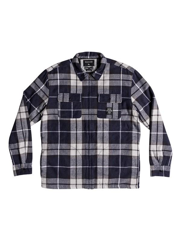 0 Fuji Pine Long Sleeve Zip Over Shirt Brown EQYWT03742 Quiksilver