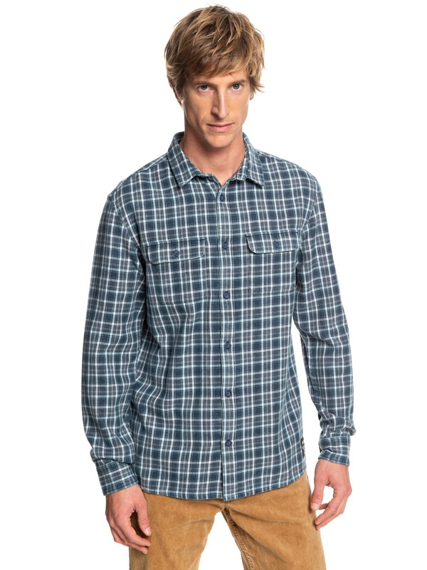 0 Fuji Tang Long Sleeve Shirt Blue EQYWT03746 Quiksilver