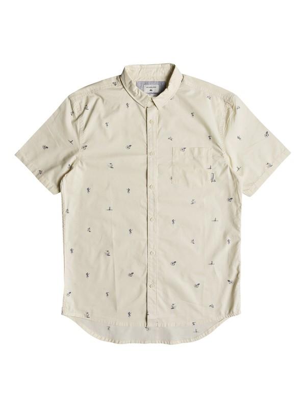0 Mini Kamakura Short Sleeve Shirt Beige EQYWT03752 Quiksilver
