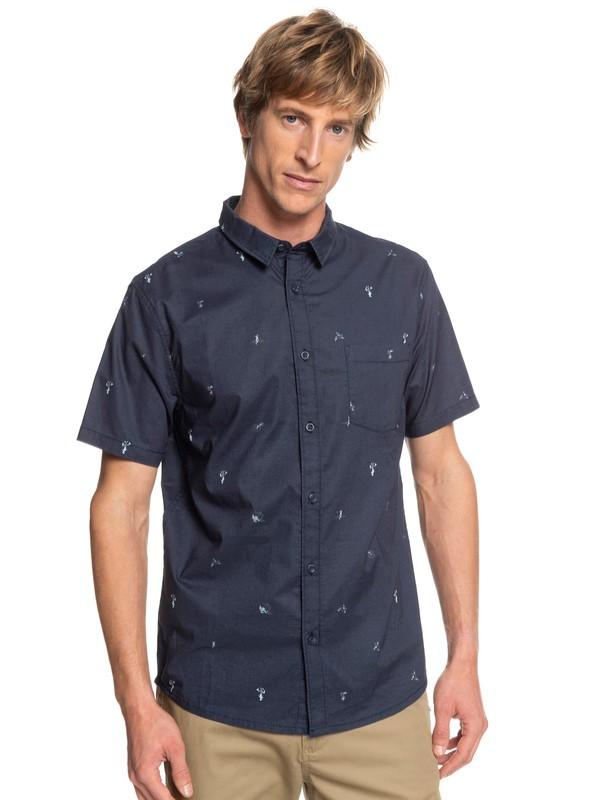 0 Mini Kamakura Short Sleeve Shirt Blue EQYWT03752 Quiksilver