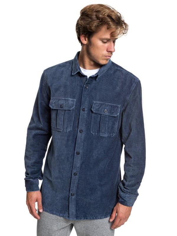 0 Melton Minds Long Sleeve Shirt Blue EQYWT03776 Quiksilver