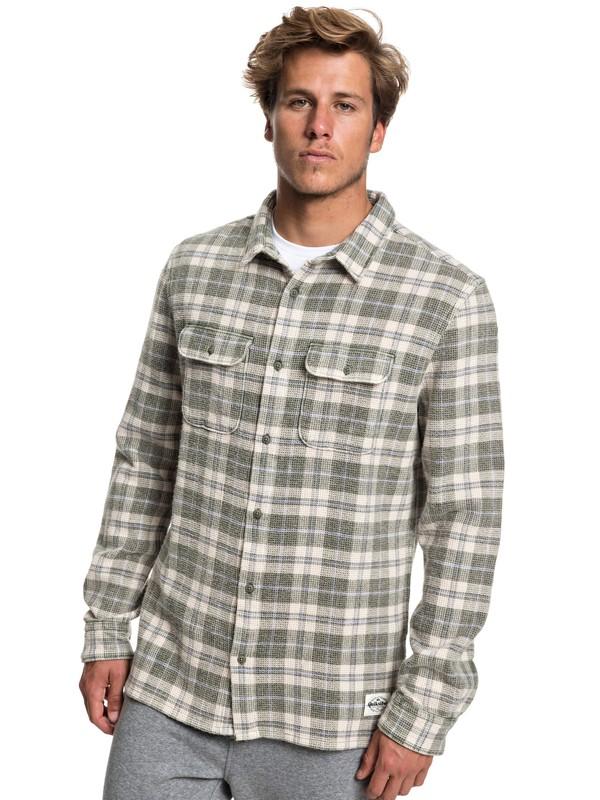 0 Strutten Blues Long Sleeve Shirt Brown EQYWT03778 Quiksilver