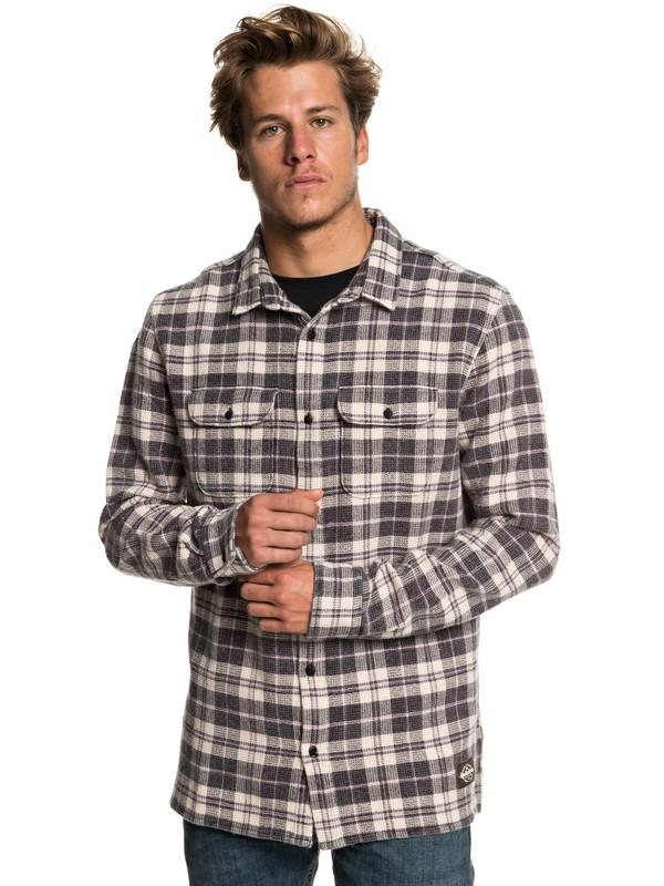 0 Strutten Blues Long Sleeve Shirt Black EQYWT03778 Quiksilver