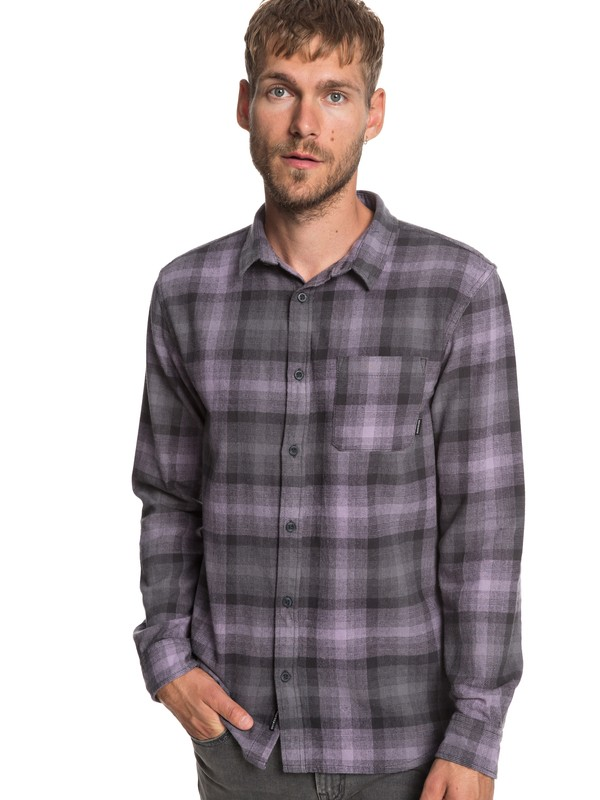 0 Fatherfly Long Sleeve Flannel Shirt Black EQYWT03787 Quiksilver