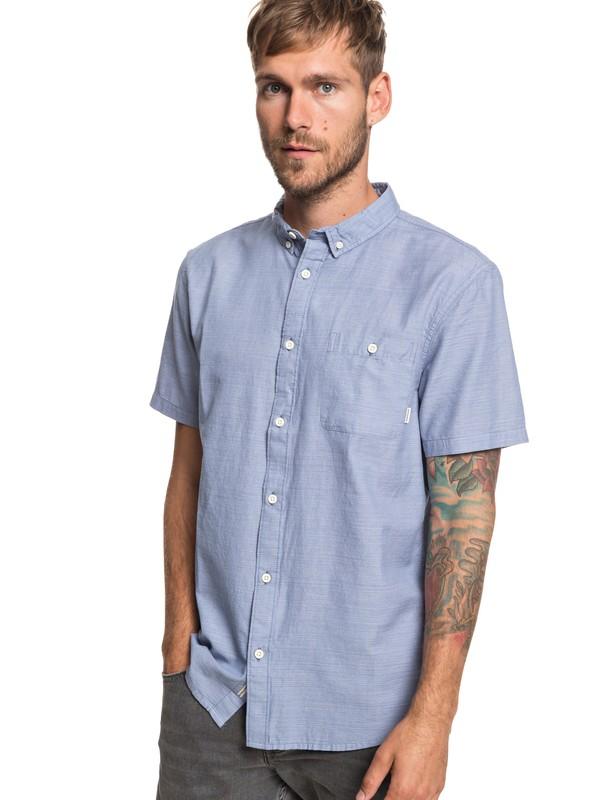 0 Waterfalls Short Sleeve Shirt Blue EQYWT03791 Quiksilver