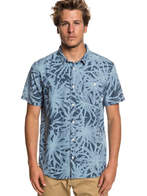 0 Pandanas Short Sleeve Shirt Blue EQYWT03794 Quiksilver