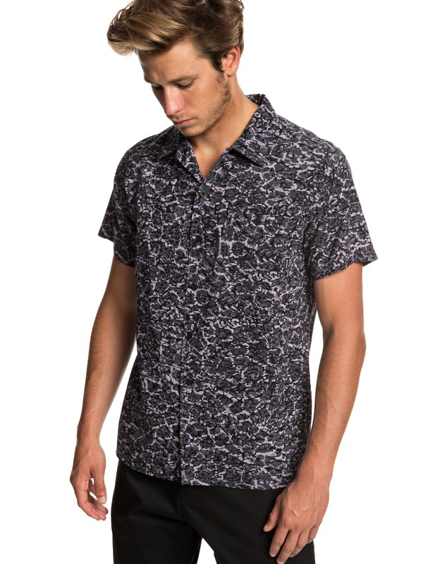 0 The Camp Short Sleeve Shirt Black EQYWT03796 Quiksilver