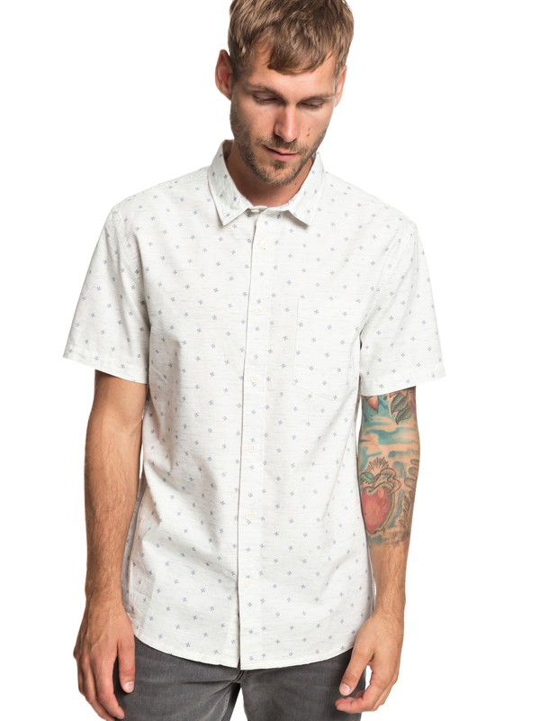 0 Mini Fins Short Sleeve Shirt White EQYWT03801 Quiksilver