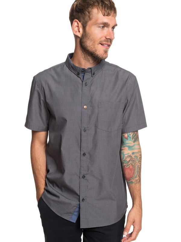 0 Valley Groove Short Sleeve Shirt Black EQYWT03809 Quiksilver