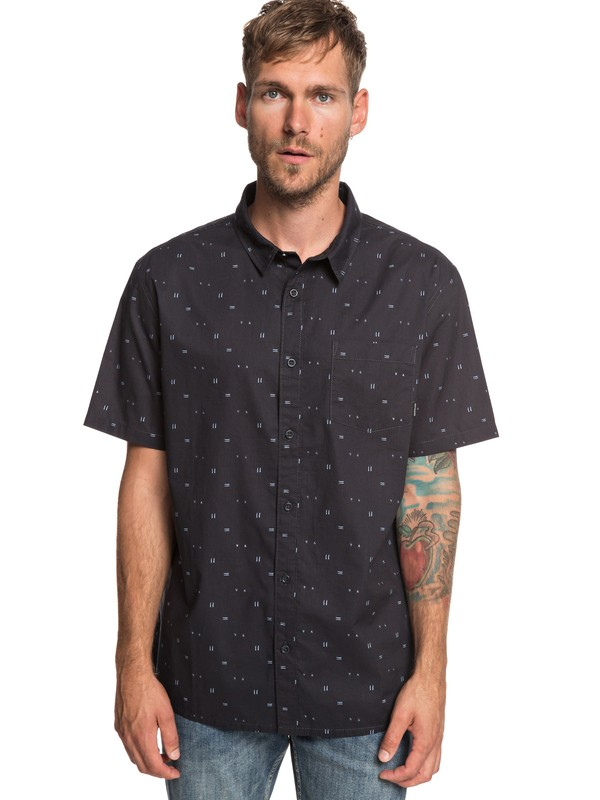0 Rock The Road Short Sleeve Shirt Black EQYWT03836 Quiksilver