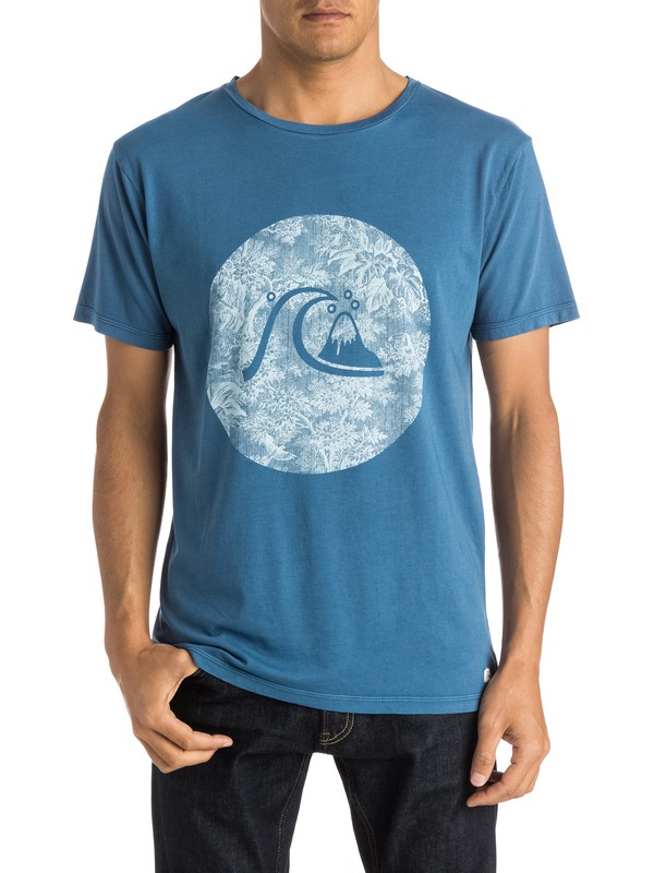 0 Garment Dyed Sunset Tunels Premium Fit Tee  EQYZT03610 Quiksilver
