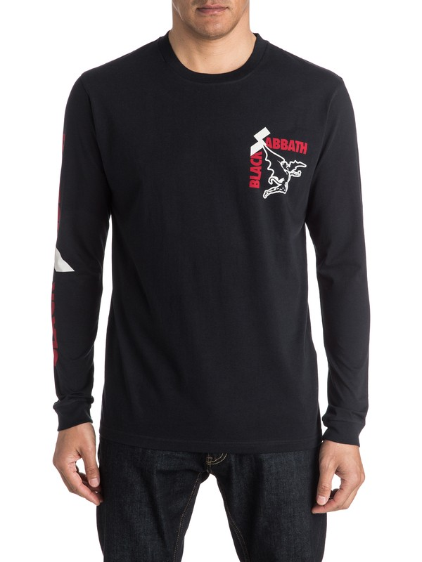 0 Quiksilver X Universal Black Sabbath Sold Our Soul  Long SleeveT-Shirt  EQYZT04136 Quiksilver