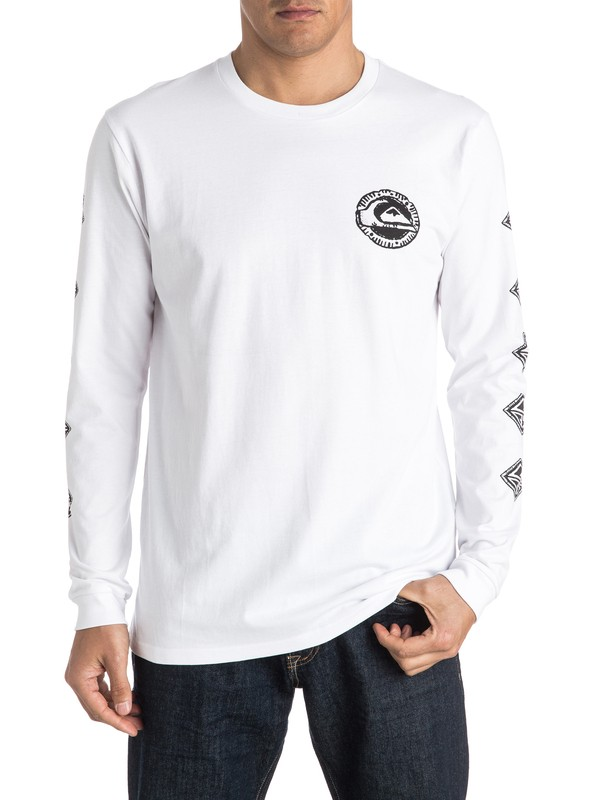 0 Too Many Long Sleeve Tee  EQYZT04152 Quiksilver