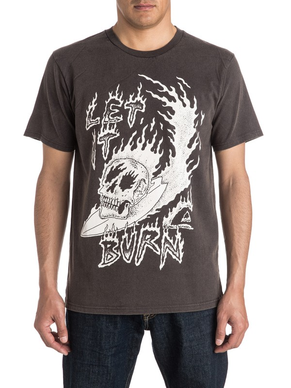 0 Let It Burn Tee  EQYZT04153 Quiksilver