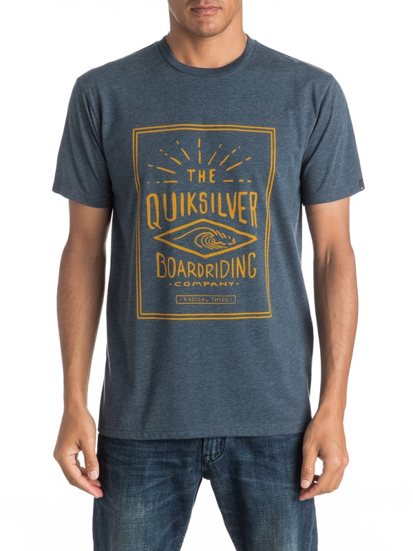 0 Heather Double Lines - Tee-Shirt  EQYZT04289 Quiksilver
