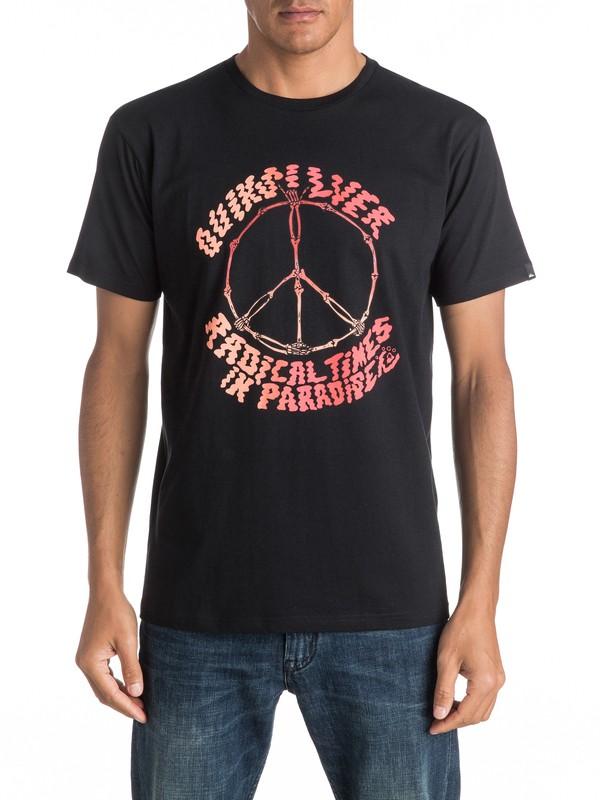 0 Classic Peace Skull - Tee-Shirt  EQYZT04304 Quiksilver