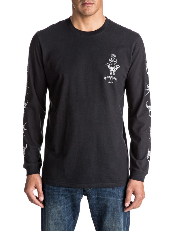 0 Devils Web Long Sleeve Tee  EQYZT04372 Quiksilver