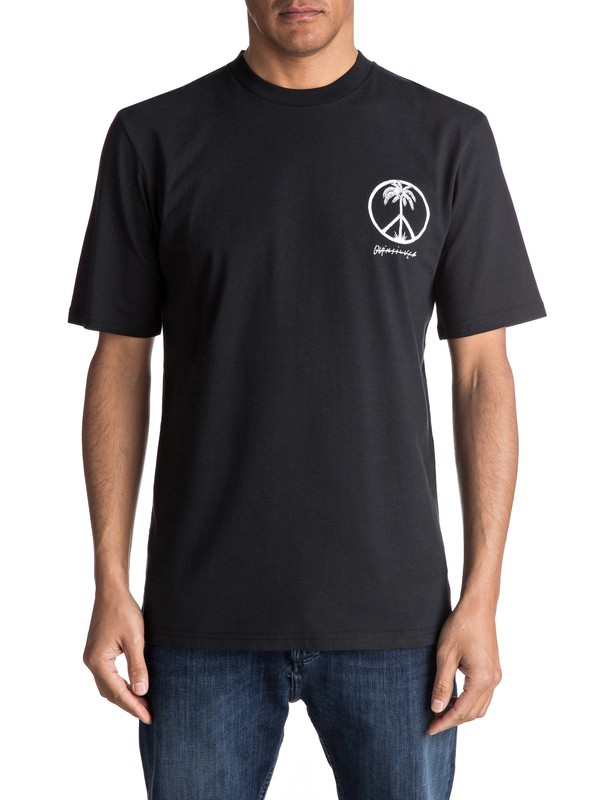 0 Peace On The Beach Tee Black EQYZT04475 Quiksilver