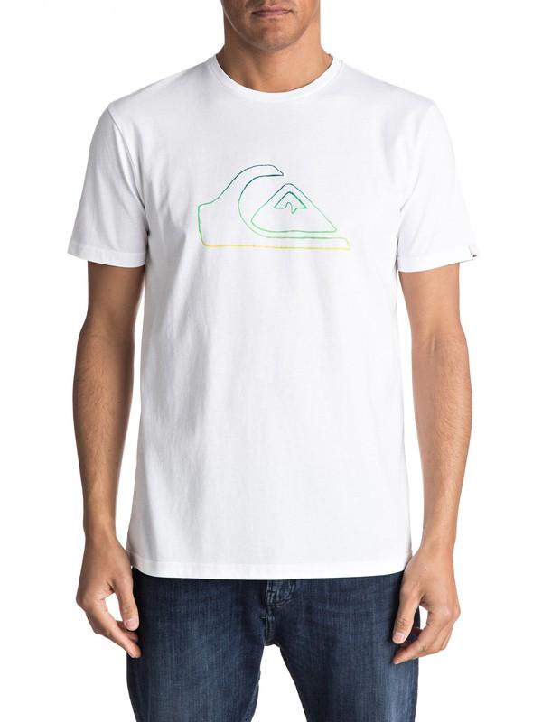0 Classic Jungle Mountain - Maglietta da Uomo White EQYZT04530 Quiksilver