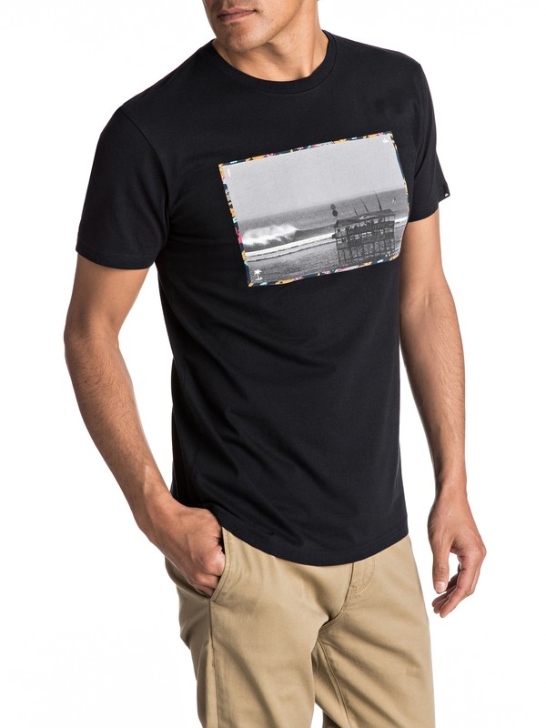 0 Premium Eastman Comp Soul - T Shirt col rond pour Homme Noir EQYZT04540 Quiksilver