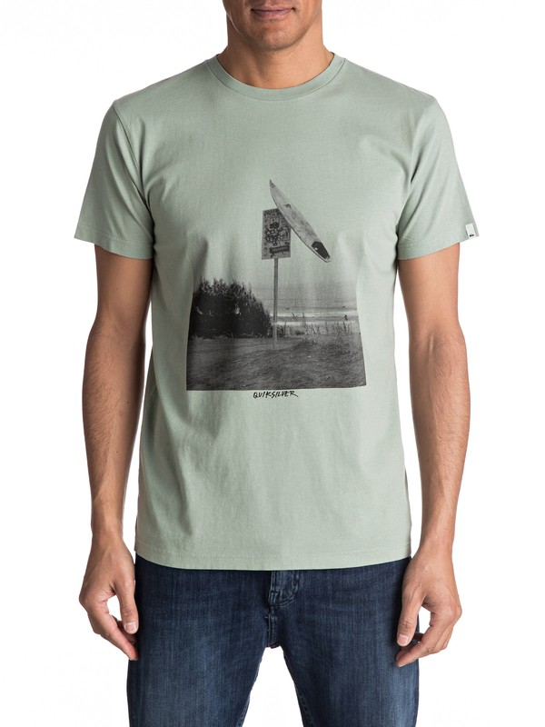 0 Premium East Smashed - T Shirt col rond Vert EQYZT04548 Quiksilver