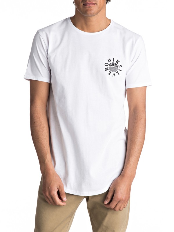 0 Scallop East Rising Dogs Tee White EQYZT04554 Quiksilver