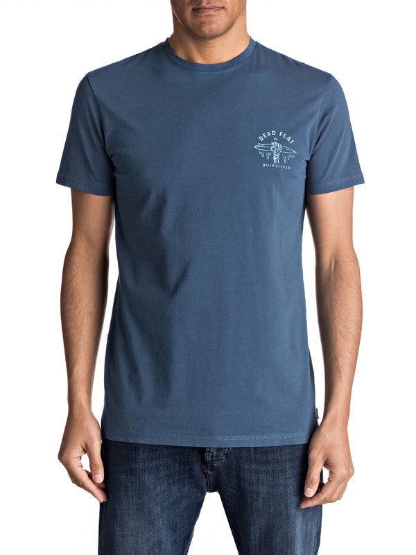 0 Garment Dye Dead Flat - Maglietta da Uomo Blue EQYZT04556 Quiksilver