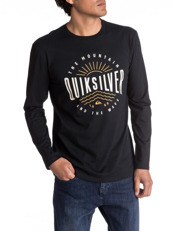 0 Classic Mad Wave - T Shirt à manches longues pour Homme Noir EQYZT04561 Quiksilver