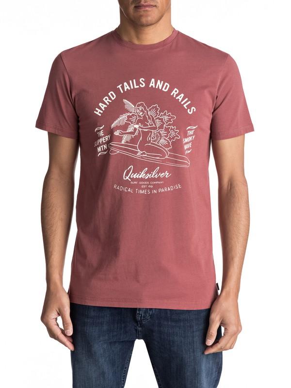 0 Garment Dye Hard Tails - Tee-Shirt Marron EQYZT04562 Quiksilver