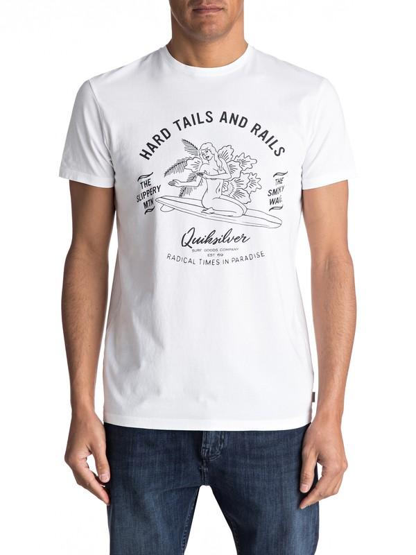 0 Garment Dye Hard Tails - Maglietta da Uomo White EQYZT04562 Quiksilver