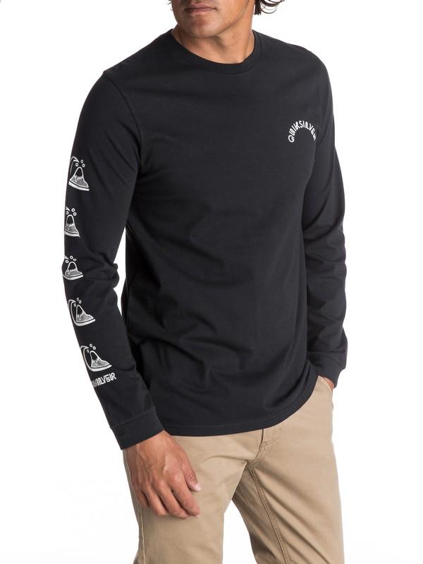 0 Men's Quik Stack Long Sleeve Tee Black EQYZT04600 Quiksilver