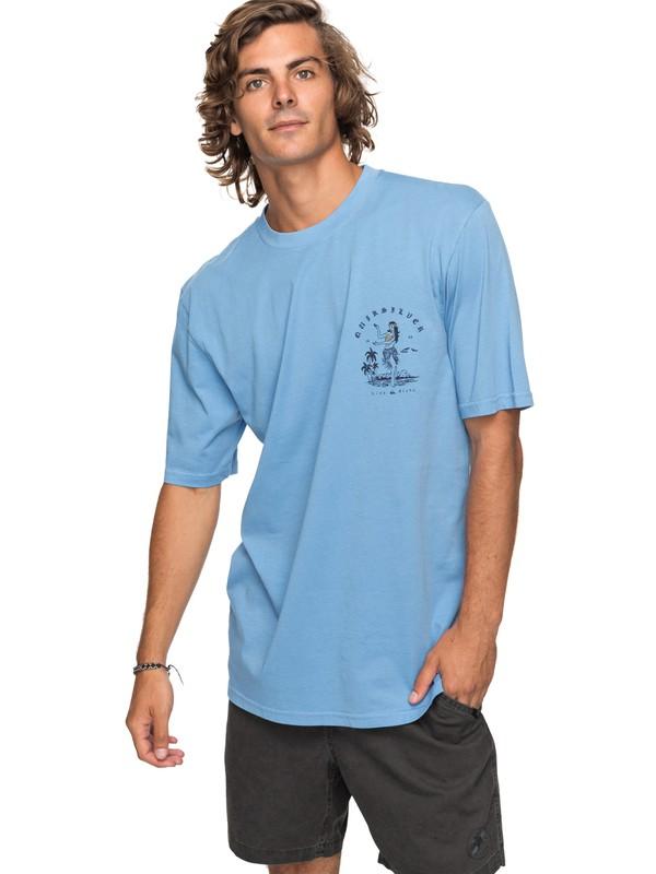 0 Curve Love - T Shirt col rond pour Homme Bleu EQYZT04738 Quiksilver