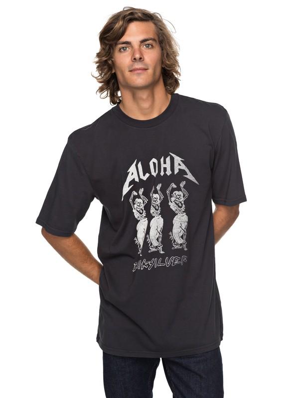 0 Peach Buzz - T Shirt col rond pour Homme Noir EQYZT04739 Quiksilver