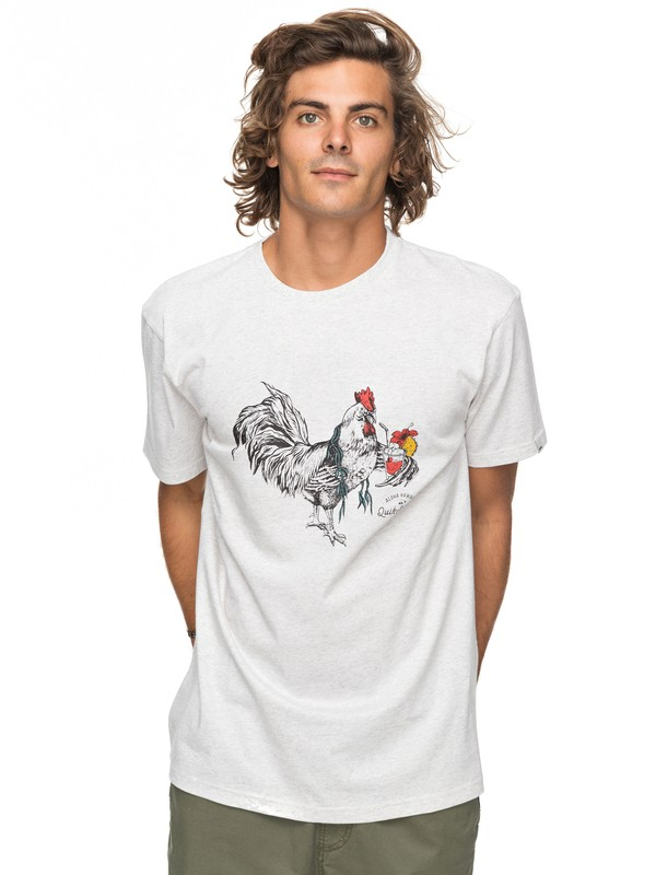 0 Heather Rooster Vibe - T-Shirt White EQYZT04740 Quiksilver