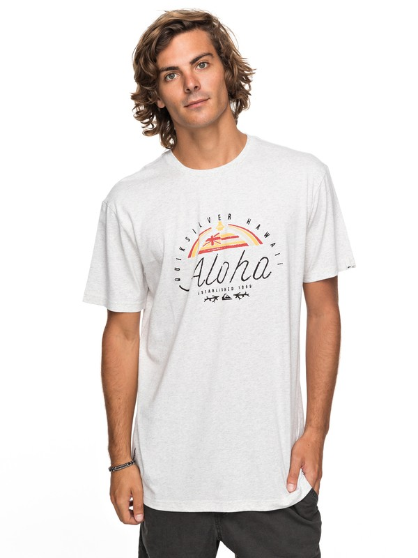 0 Heather King St - T-Shirt White EQYZT04741 Quiksilver