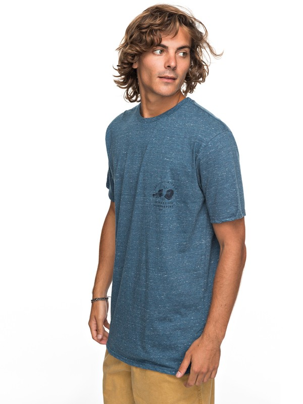 0 Organic Long Lost - T-Shirt Blue EQYZT04743 Quiksilver