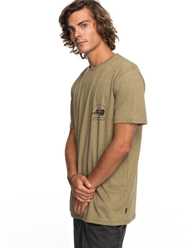 0 Organic Long Lost - T-Shirt for Men Beige EQYZT04743 Quiksilver