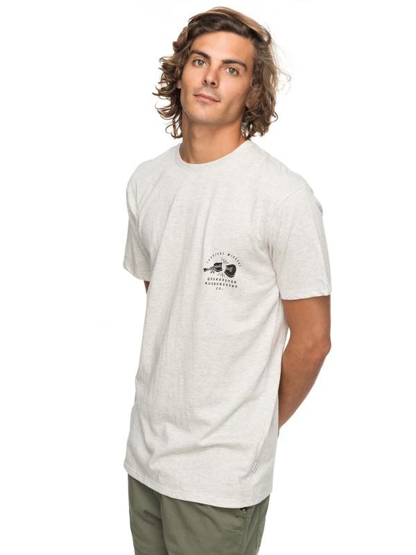 0 Organic Long Lost - T Shirt col rond pour Homme Blanc EQYZT04743 Quiksilver