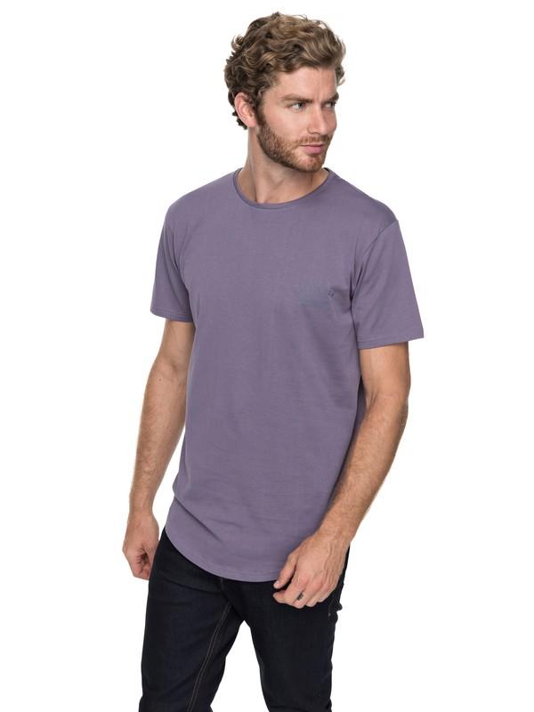 0 Scallop Spacer Facer - T-Shirt Purple EQYZT04744 Quiksilver