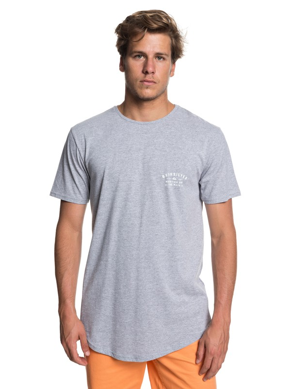 0 Scallop Spacer Facer - T-Shirt for Men Gray EQYZT04744 Quiksilver