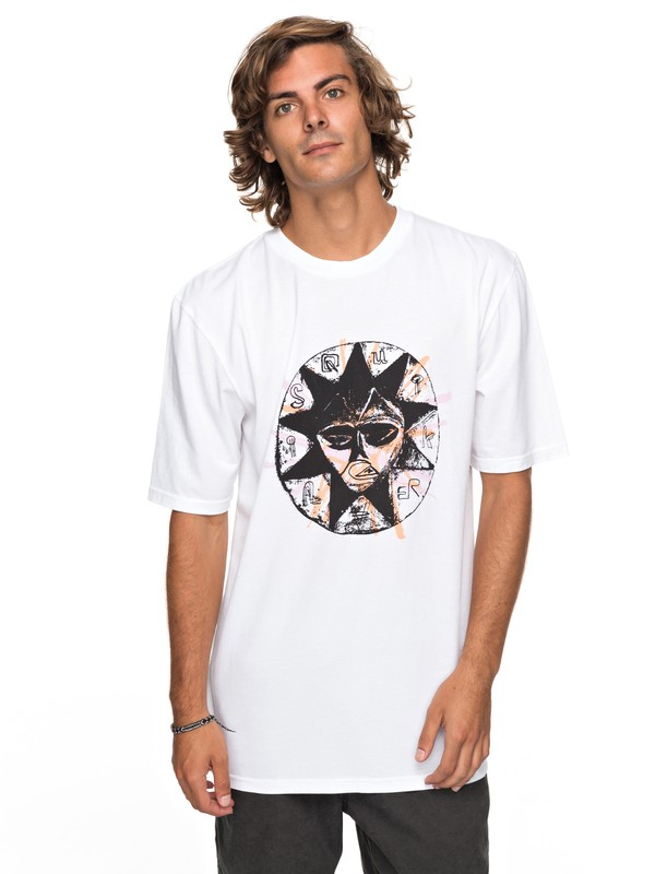 0 Surf Brulee Tee White EQYZT04754 Quiksilver