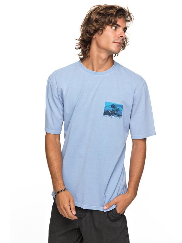 0 Durable La Rhune - Camiseta para Hombre Azul EQYZT04758 Quiksilver