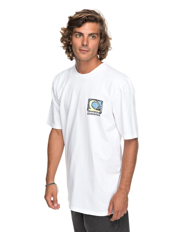 0 Durable Dens Way Tee White EQYZT04759 Quiksilver
