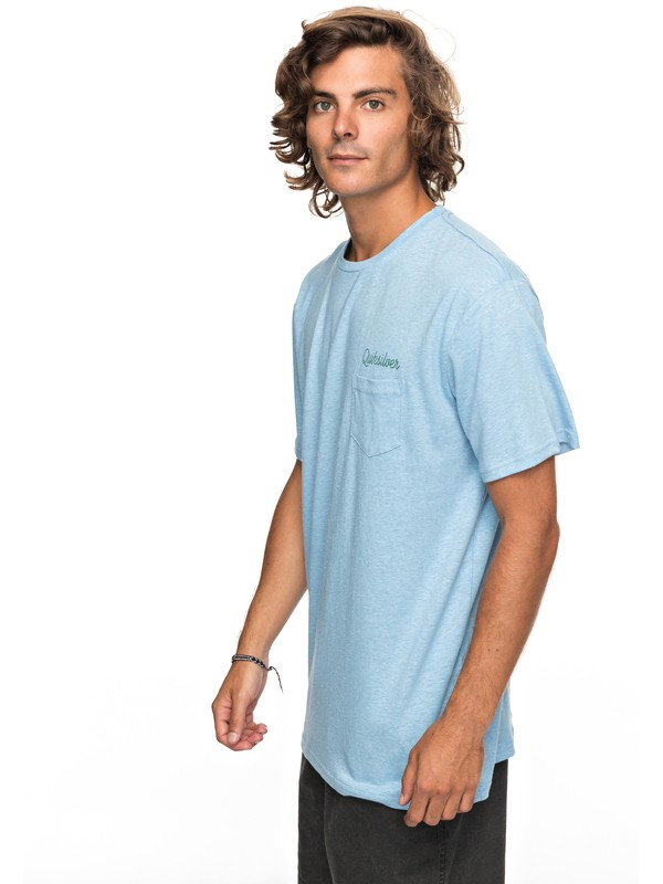 0 Activist Morning Slides Pocket Tee  EQYZT04765 Quiksilver